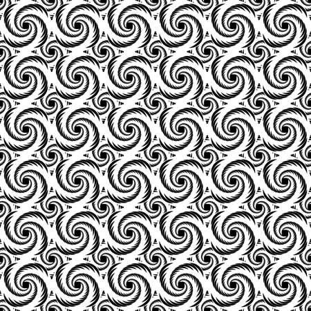 Design seamless monochrome decorative helix pattern. Whirlpool textured . Vector art