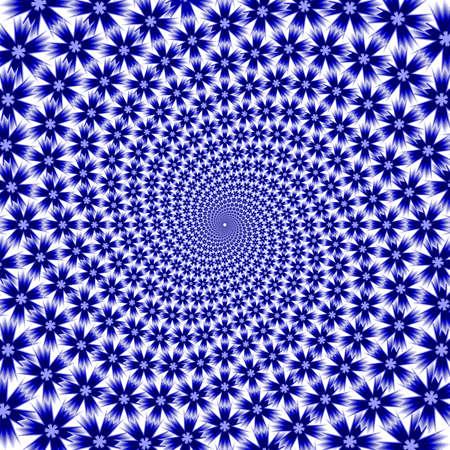 vanish: Design cornflower whirl movement background. Colorful floral decorative spiral backdrop. Vector-art illustration