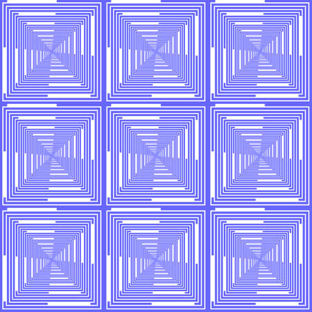 parallelogram: Design seamless blue checked pattern. Abstract geometric background. Vector art Illustration
