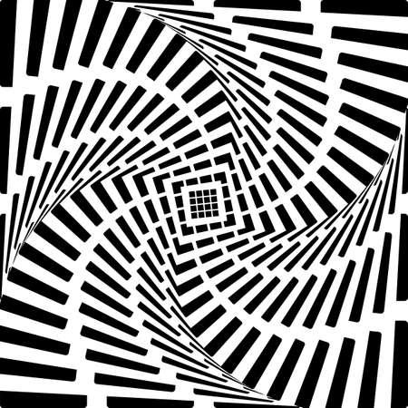 torsion: Design heart twirl movement illusion background. Abstract striped torsion backdrop. Vector-art illustration Illustration
