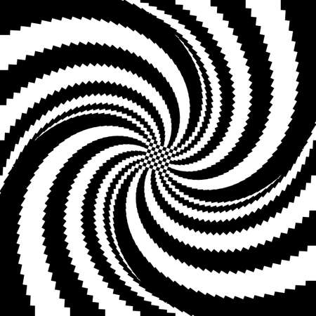 twisting: Design heart whirl twisting illusion background. Abstract striped distortion backdrop. Vector-art illustration