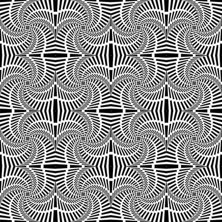 uncolored: Design seamless uncolored swirl movement pattern. Abstract decorative striped textured background. Vector art