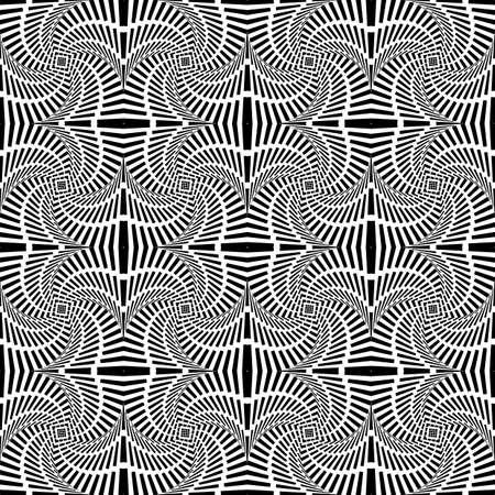 uncolored: Dise�ar patr�n de movimiento remolino sin color sin fisuras. Rayas decorativa abstracta con textura de fondo. Vector art Vectores