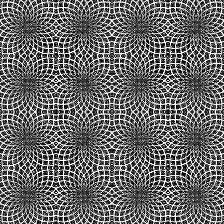 latticed: Design seamless monochrome decorative flower pattern. Abstract trellis lacy textured background. Vector art
