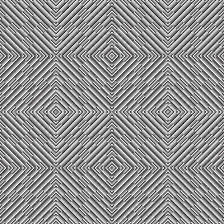 metal monochrome: Design seamless monochrome geometric diagonal pattern. Abstract metal textured background. Vector art Illustration