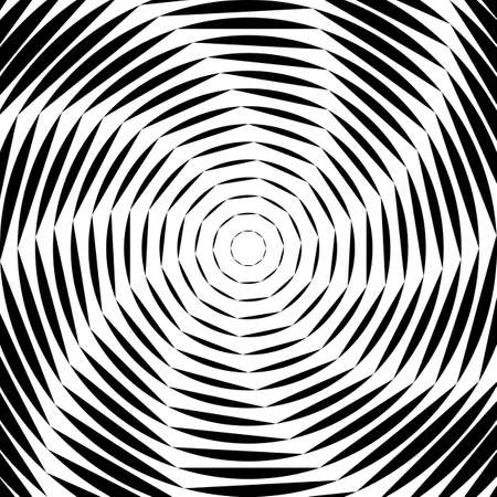Design monochrome whirl movement illusion background. Abstract striped lines distortion backdrop. Vector-art illustration Vector