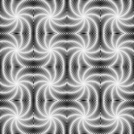 uncolored: Dise�o modelo del v�rtice de torsi�n sin color sin fisuras. Rayas decorativa abstracta con textura de fondo. Vector art