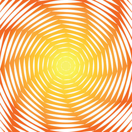 Design sunny swirl motion illusion background. Abstract strip torsion colorful backdrop. Vector-art illustration Vector