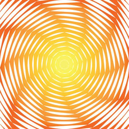 torsion: Design sunny swirl motion illusion background. Abstract strip torsion colorful backdrop. Vector-art illustration