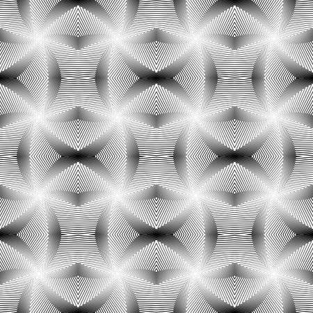 wattle: Design seamless monochrome geometric grid pattern. Abstract interlaced lines textured background. Vector art