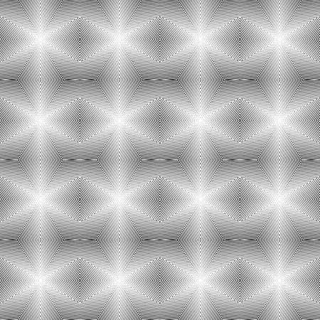 uncolored: Dise�o sin fisuras patr�n geom�trico sin color. L�neas de diamantes con textura abstracta de fondo. Vector art