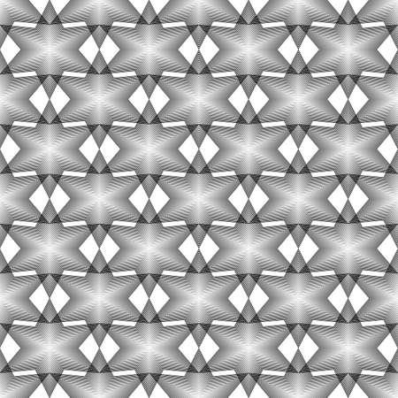 latticed: Design seamless monochrome geometric latticed pattern. Abstract diamond lines textured background. Vector art