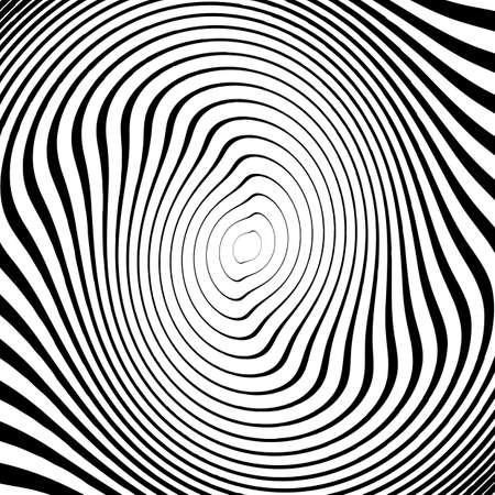 torsion: Design monochrome twirl movement ellipse background. Abstract strip torsion backdrop. Vector-art illustration Illustration