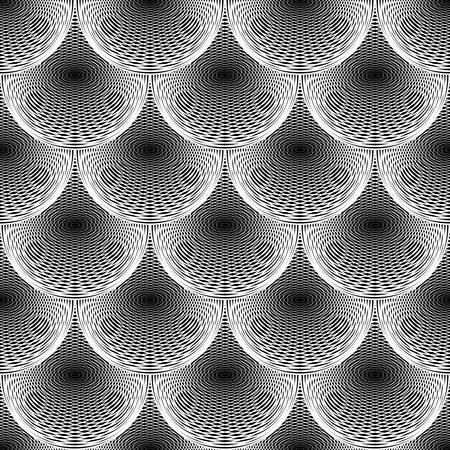uncolored: Dise�o sin fisuras c�rculo sin color patr�n de l�neas geom�tricas Vectores