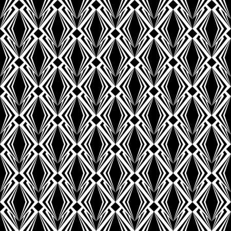 latticed: Design seamless monochrome diamond pattern Illustration