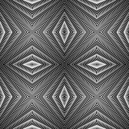 parallelogram: Dise�ar el modelo rayado incons�til del diamante. Fondo monocromo geom�trico abstracto.