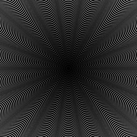 torsion: Design monochrome whirlpool illusion background. Abstract strip torsion backdrop.