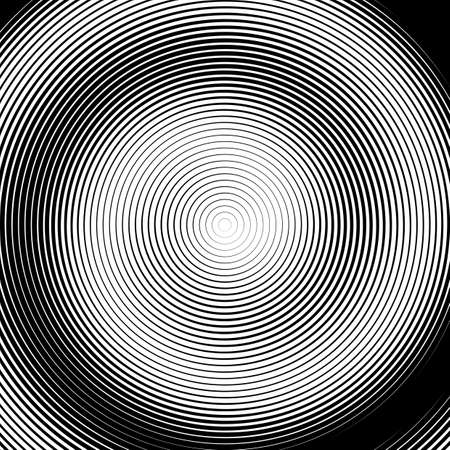torsion: Design monochrome spiral movement illusion background. Abstract stripe lines torsion backdrop.