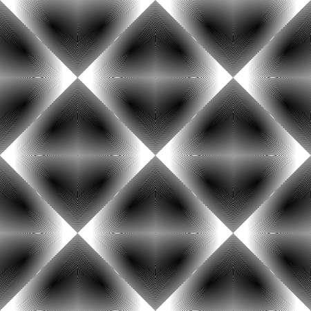 latticed: Design seamless monochrome diamond pattern. Abstract geometric textured background.
