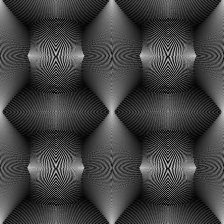 convex: Design seamless monochrome convex pattern. Abstract lines textured background.