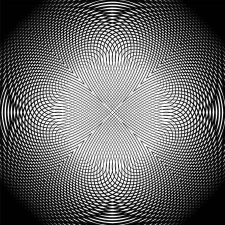 uncolored: Dise�ar enrejado sin color de fondo entrelazado. Resumen ronda rejilla decorativa textura tel�n de fondo. Vectores