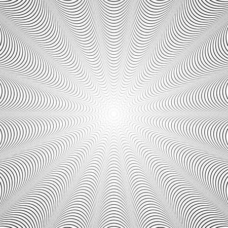 uncolored: Dise�o sin color twirl fondo de la ilusi�n. Contexto abstracto distorsi�n tira. Vectores