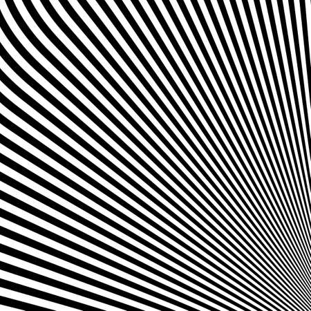Design monochrome lines illusion background. Abstract strip backdrop.