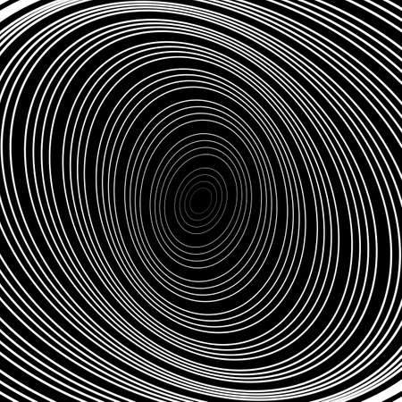 uncolored: Design uncolored whirlpool circular movement background. Abstract striped distortion backdrop.