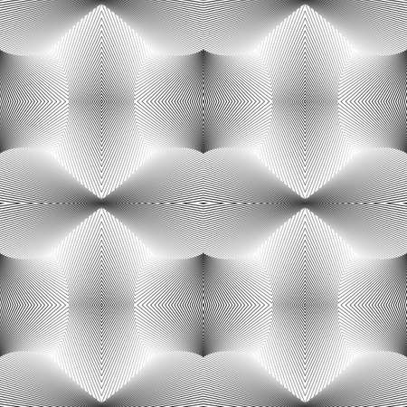 Design seamless monochrome pattern. Abstract lines textured background.  Vector