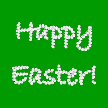 margerite: Colorful Easter background with words made from chamomile flowers.