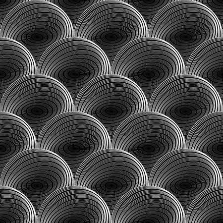uncolored: Design seamless uncolored sphere geometric pattern.  Illustration