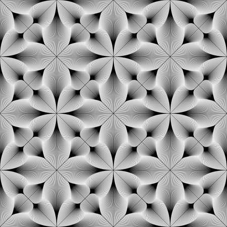 Design seamless monochrome decorative pattern.  Ilustrace