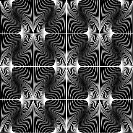 Design seamless striped diamond geometric pattern. Abstract monochrome waving lines background.