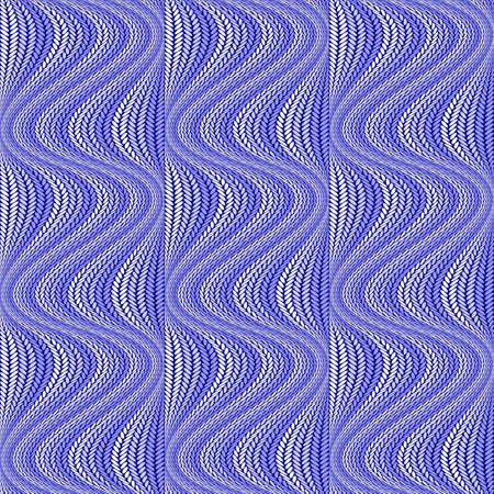 Design colorful seamless wavy pattern. Abstract warped knitted textured background.