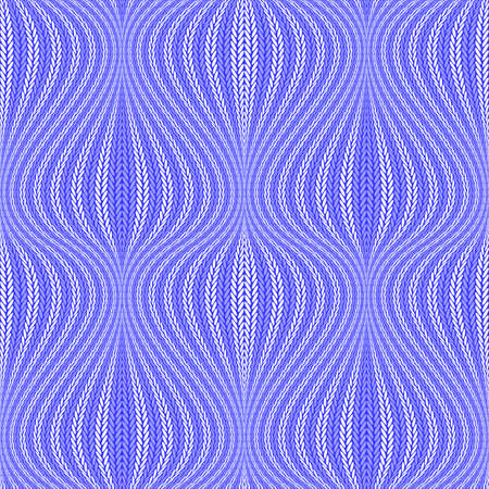 Design colorful seamless wavy pattern. Abstract warped knitted textured background. Vector art