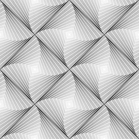 Design seamless vortex movement strip geometric pattern. Abstract monochrome waving lines background. Speckled texture. Vector art Vector