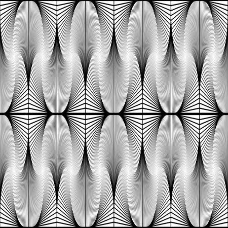 speckled: Design seamless monochrome decorative pattern. Abstract waving warped background. Speckled texture. Vector art Illustration
