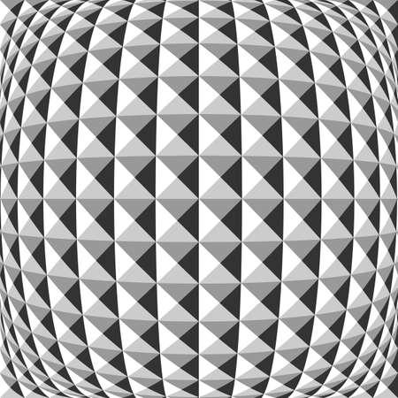 convex: Design monochrome warped geometric pattern. Abstract convex textured background. Vector art Illustration