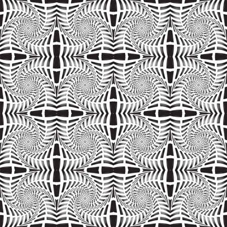 speckled: Design seamless monochrome decorative pattern. Abstract waving lines background. Speckled texture. Vector art