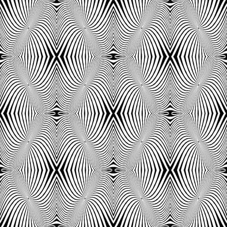 decorative lines: Dise�ar patr�n monocromo sin problemas. L�neas decorativas con textura abstracta de fondo. Vector art