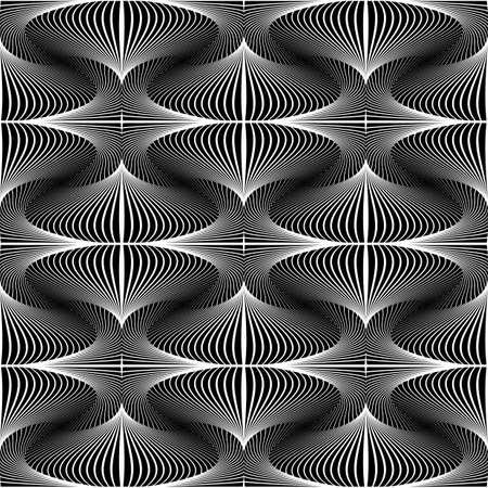 Ontwerp Naadloze decoratieve geometrische patroon. Abstracte zwart-wit achtergrond. Gevlekte structuur. Vector kunst