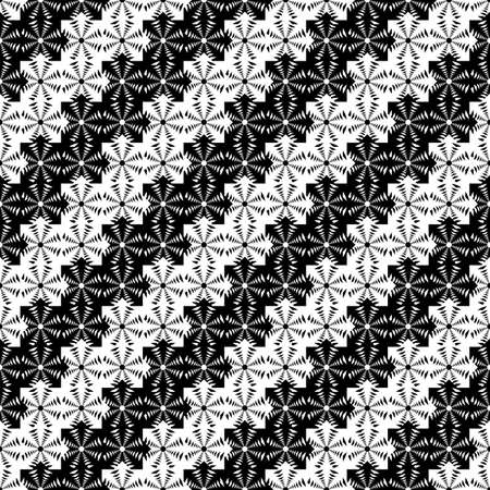 wattle: Design seamless monochrome lacy decorative pattern. Abstract diagonal background. Speckled texture. Vector art