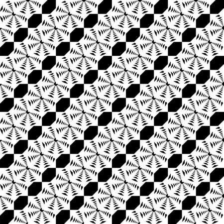 wattle: Design seamless monochrome lace decorative pattern. Abstract diagonal background. Speckled texture. Vector art Illustration