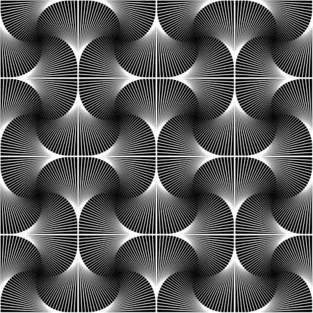 texture twisted: Design seamless swirl movement geometric pattern. Abstract monochrome waving lines background. Speckled twisted texture. Vector art