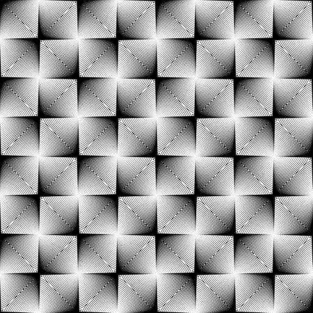 parallelogram: Dise�o cuadrado sin patr�n en espaldera. Fondo monocromo geom�trico abstracto. Textura manchada. Vector art Vectores