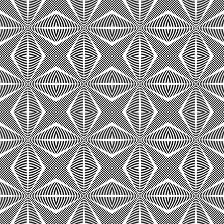 speckled: Design seamless diamond lattice pattern. Abstract geometric monochrome background. Speckled texture. Vector art Illustration