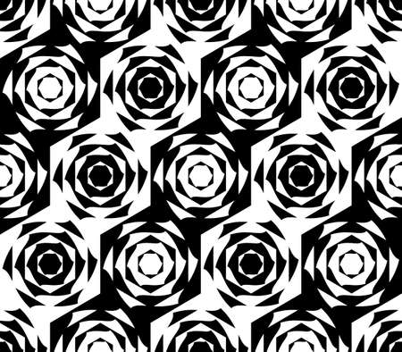 Design seamless monochrome hexagon geometric pattern. Abstract stripy diagonal background. Vector art Vector