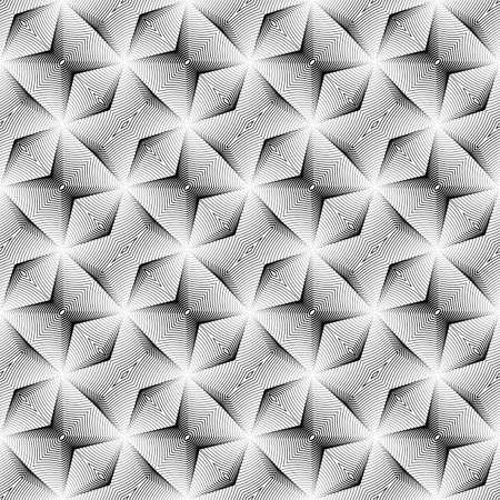 Design seamless monochrome diagonal geometric pattern. Abstract diamond lines textured background. Vector art