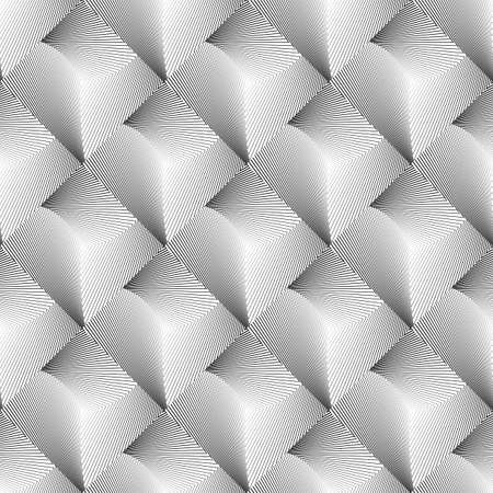speckled: Design seamless diamond geometric pattern. Abstract monochrome lines background. Speckled texture. Vector art. No gradient Illustration