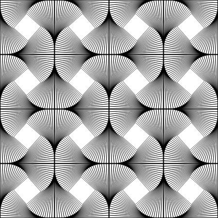Design seamless swirl movement geometric pattern. Abstract monochrome waving lines background. Speckled twisted texture. Vector art Vector